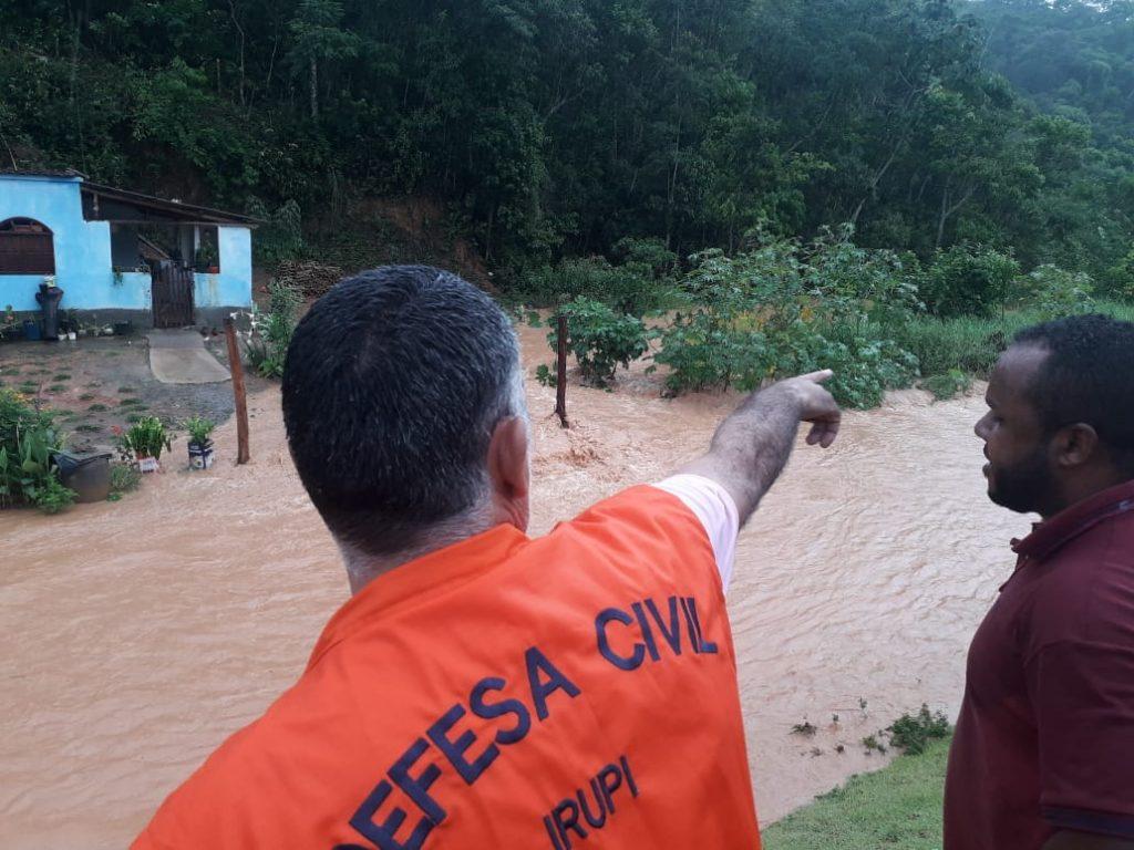 Represa particular rompe em distrito de Santa Cruz, em Irupi. Foto: Divulgação/Prefeitura de Irupi