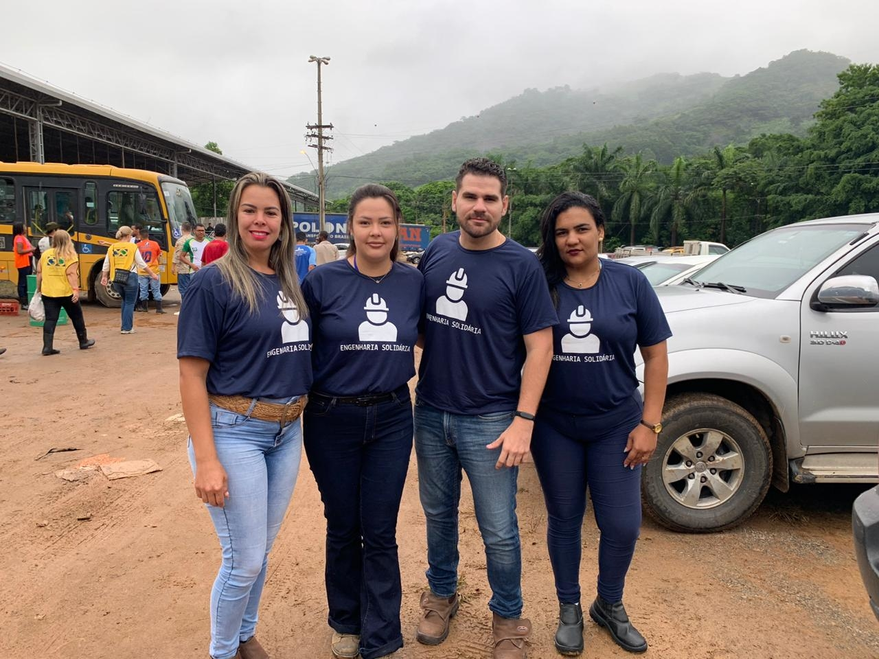 Engenheiros oferecem vistoria técnica em imóveis atingidos pela chuva em Iconha. Foto: Divulgação