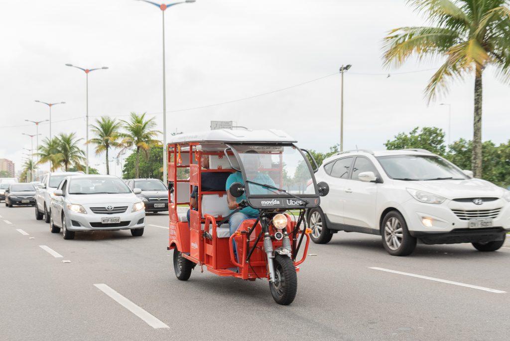 Uber lança viagens com tuk-tuk em Vitória. Foto: Divulgação/Uber