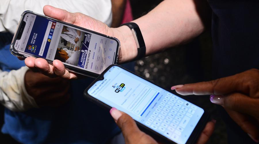 Vila Velha lança WiFiVV na Praça Duque de Caxias. Foto: Divulgação/PMVV
