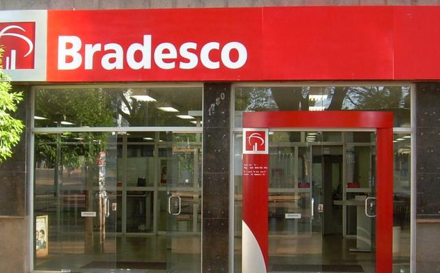 Fachada do Banco Bradesco. Foto: Divulgação
