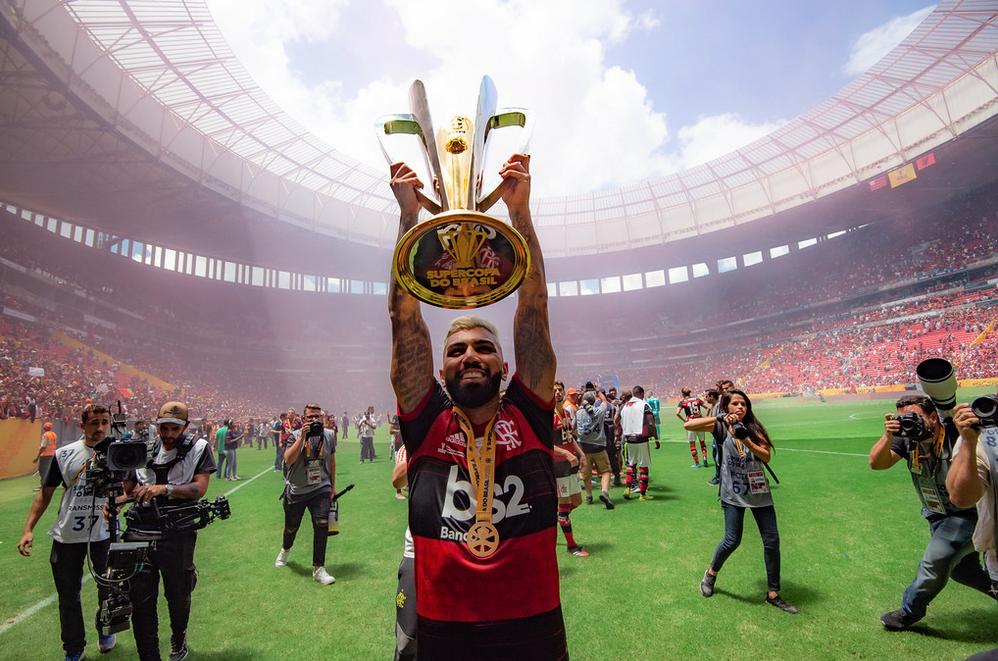 Flamengo inicia 2020 com título da Supercopa do Brasil. Foto: Alexandre Vidal/Flamengo