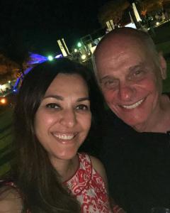 Jornalista Ricardo Boechat e a esposa Veruska Seibel Boechat. Foto: Reprodução/Instagram