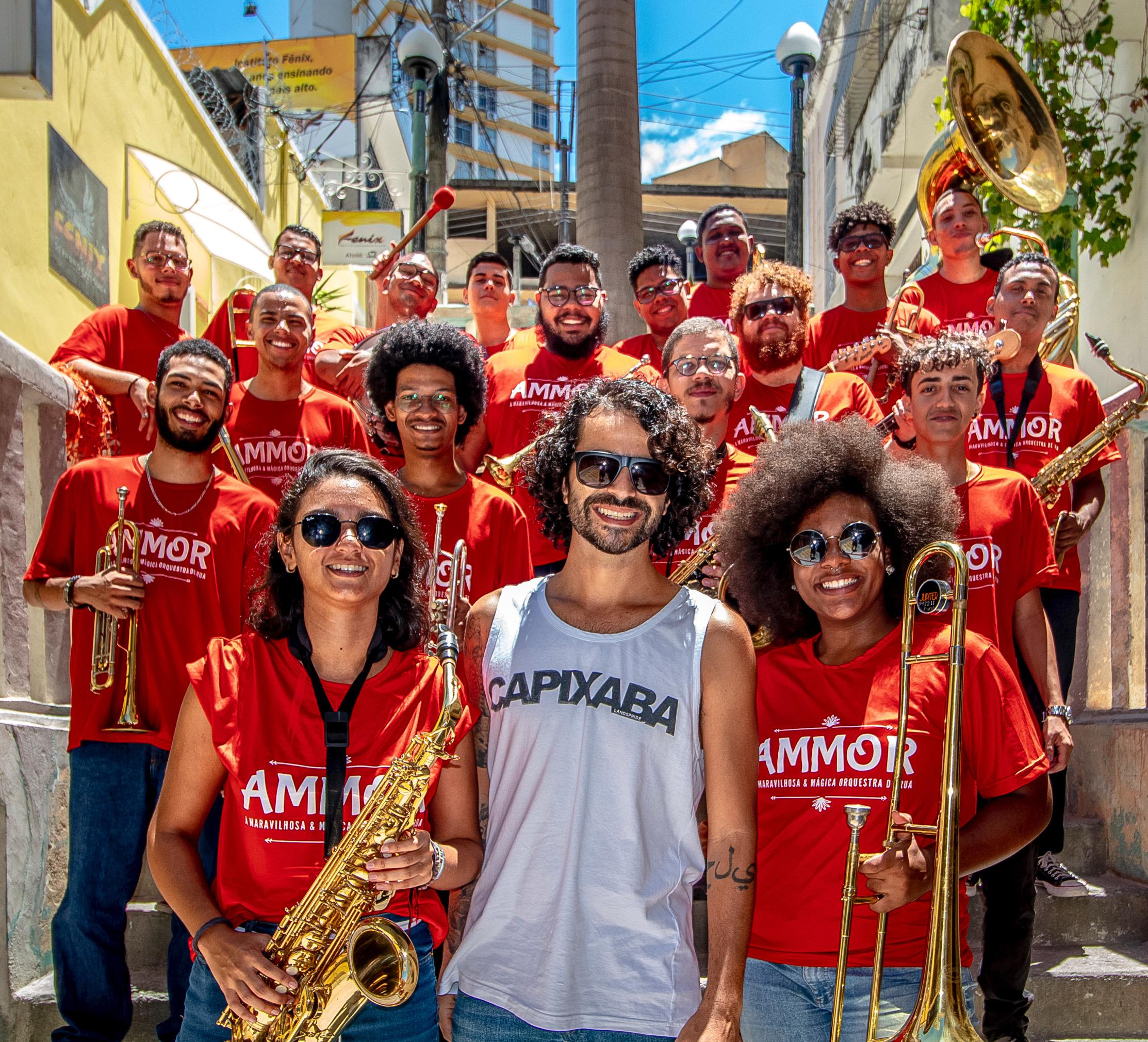 Orquestra Ammor é uma das atrações do baile. Foto: Ricardo Galvão/Divulgação