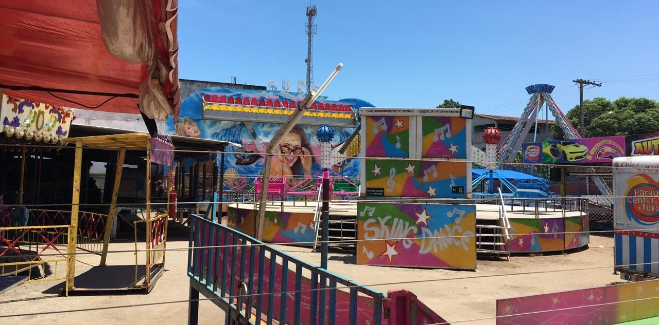 O parque Center Toys foi interditado após o acidente. Foto: Priscilla Thompsom