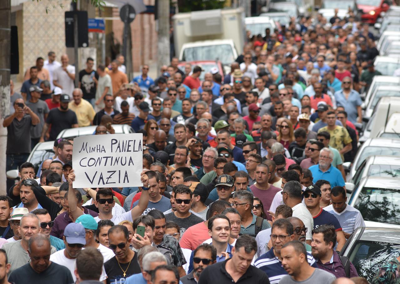 Negociação começou em fevereiro, com manifestação. Foto: Chico Guedes