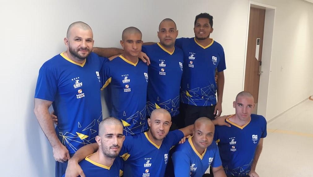 Seleção brasileira masculina de Goalball. Foto: Divulgação/CBDV