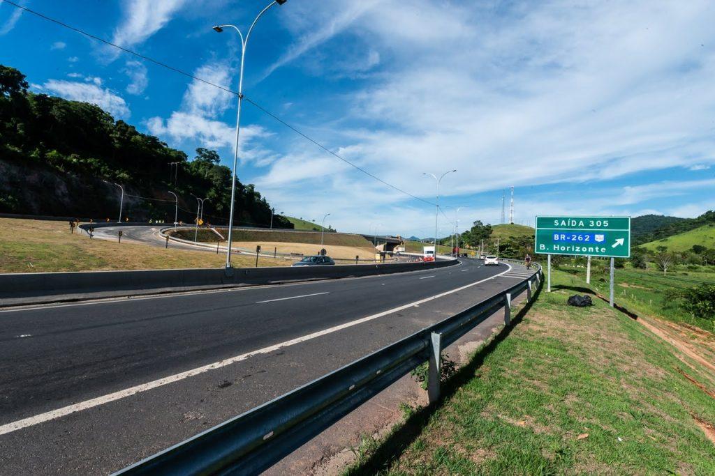 Viaduto entre a BR-101 e a BR-262 será liberado nesta sexta-feira (28). Foto: Helio Filho