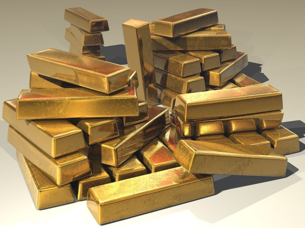 Barras de ouro. Foto: Pixabay