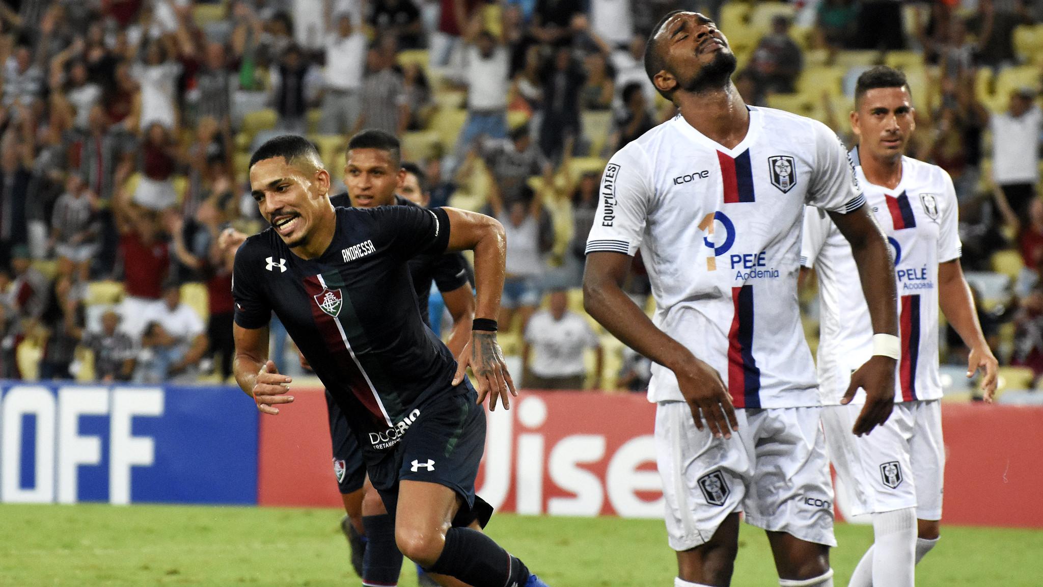 Gilberto marcou o último gol na vitória deste domingo conta o Resende. Foto: Mailson Santana/Fluminense FC