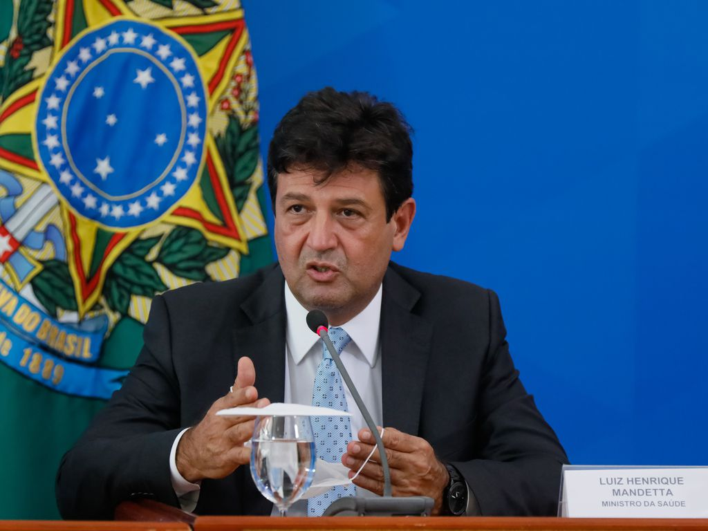 Ministro da Saúde, Luiz Henrique Mandetta. Foto: Isac Nóbrega/Agência Brasil