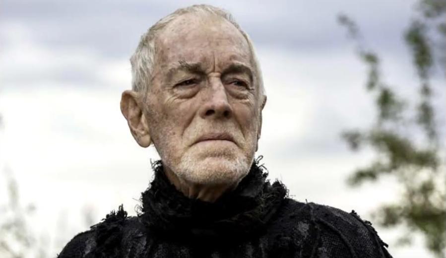 Um dos trabalhos mais recentes de Max von Sydow foi o Corvo de Três Olhos, da série Game of Thrones. Foto: Reprodução