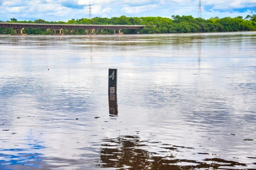 Nível do Rio Doce sobe em Linhares. Foto: Prefeitura de Linhares