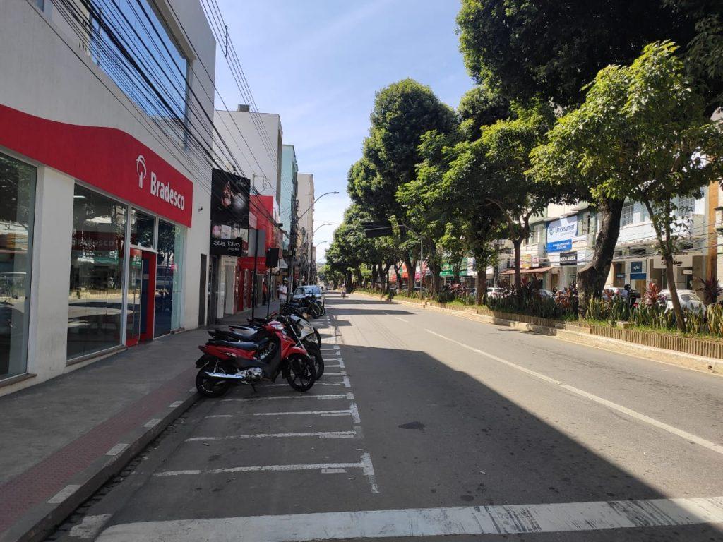Avenida Getúlio Vargas, no Centro de Colatina. Foto: Danielli Saquetto