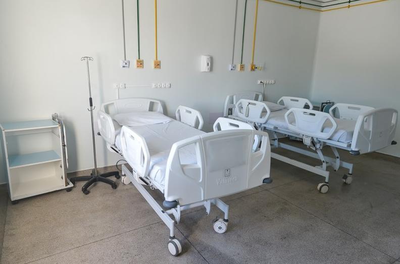 Leito de UTI no Hospital Dório Silva, na Serra. Foto: Divulgação/Sesa