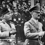 Benito Mussolini (esquerda) e Adolf Hitler (direita). Foto: Reprodução