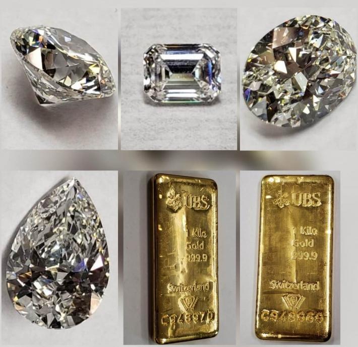 20 lotes de diamantes e barras de ouro do ex-governador Sérgio Cabral serão leiloadas nesta quarta, 29. Foto: Reprodução