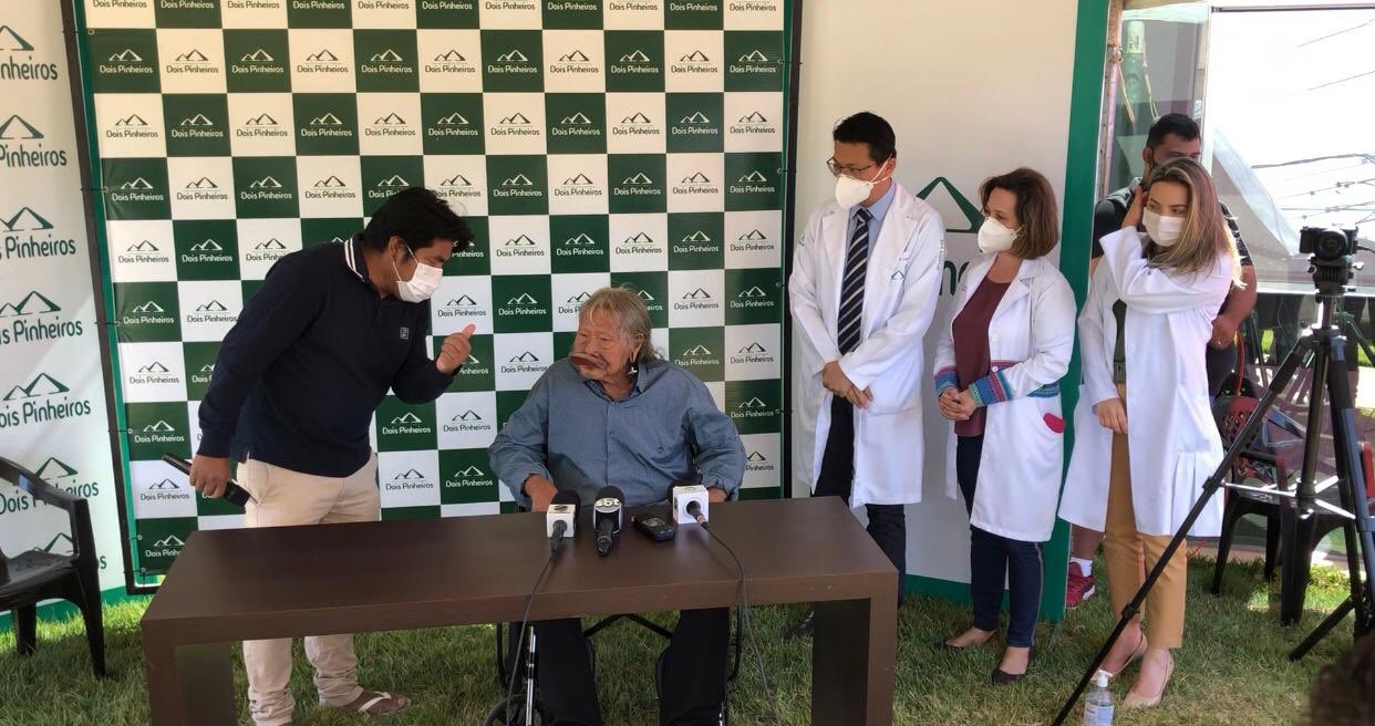 Indicado ao prêmio Nobel da Paz em 2019, Raoni sofreu anemia severa e hemorragia digestiva. Foto: Instituto Raoni