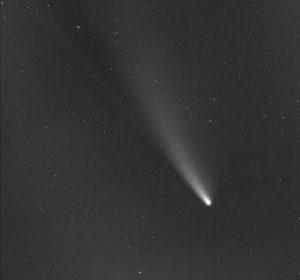 Cometa Neowise no céu de Kislovodsk, Rússia. Fotos Pública
