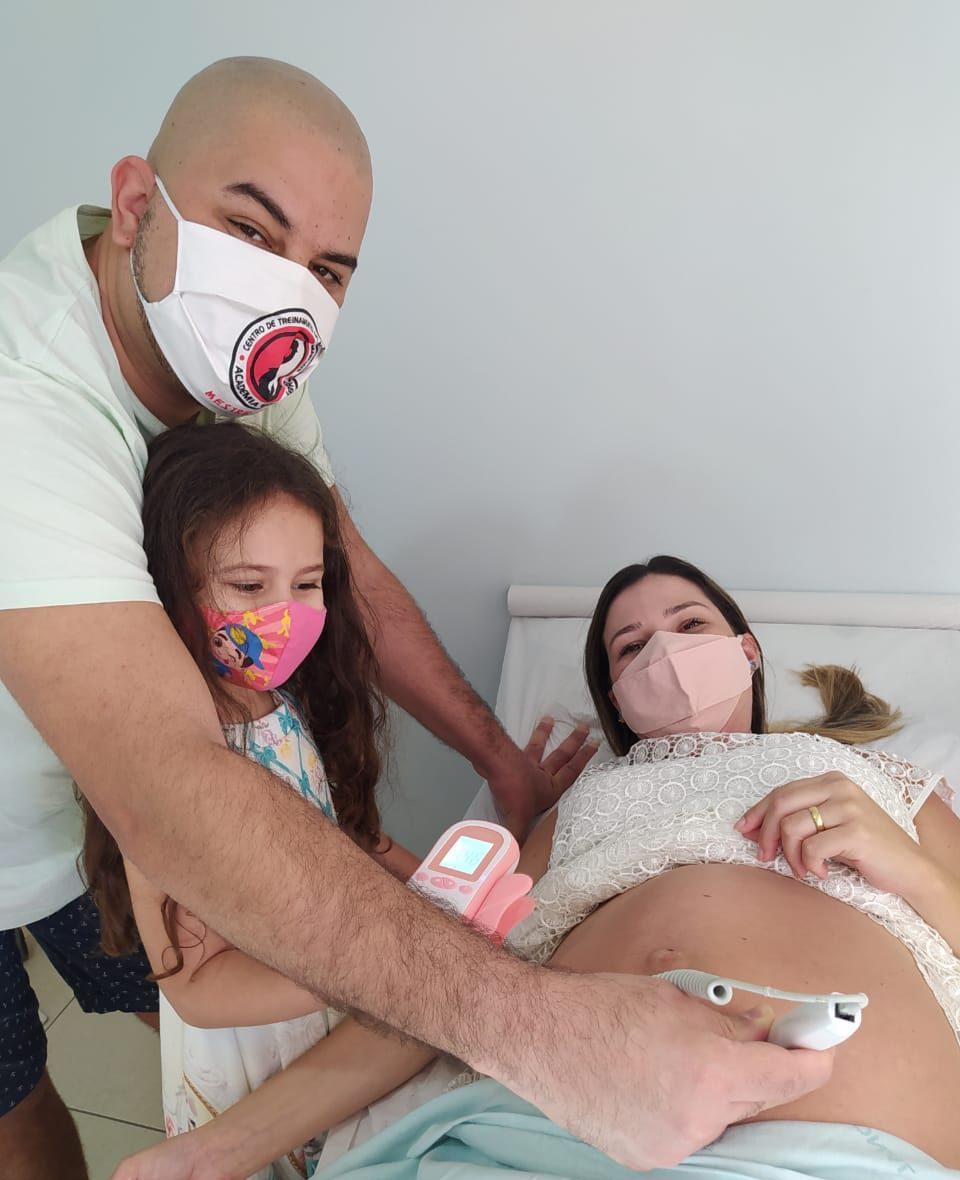 Guilherme e a família. Foto: Reprodução