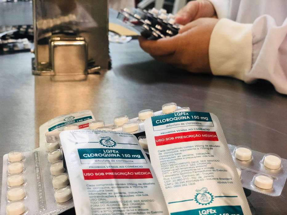 Sem fracionamento, governo não conseguiu distribuir nem 500 mil unidades da droga doada. Foto: LQFEx/Ministério da Defesa