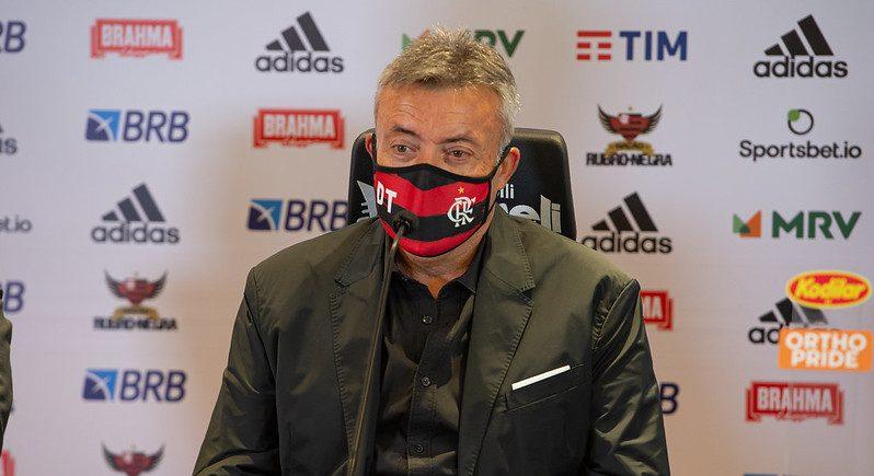 Diretoria descarta mudança no Flamengo e dá respaldo para Domènec Torrent. Foto: Alexandre Vidal / Flamengo. Foto: Alexandre Vidal / FlamengoFoto: Alexandre Vidal / Flamengo