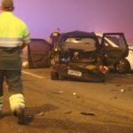 O acidente envolveu pelo menos 22 veículos, deixando oito mortos e 23 feridos em São José dos Pinhais, no Paraná. Foto: Reprodução/CNN