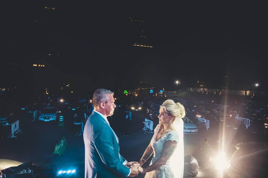 Casamento drive-in de Kelly e Anderson. Foto: Fabrizio Pepe