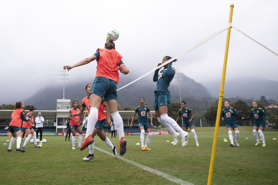 Treino da Seleção Feminina Principal na Granja Comary. Foto: Créditos: Thais Magalhães/CBF
