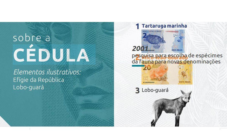 O Banco Central ainda não divulgou a imagem da nova cédula. Foto Divulgação/Banco Central