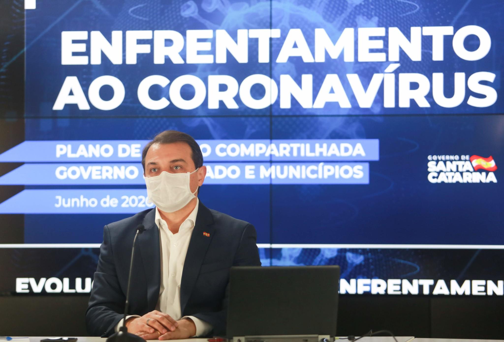 Governador de Santa Catarina Carlos Moises. Foto: Foto: Júlio Cavalheiro / Secom