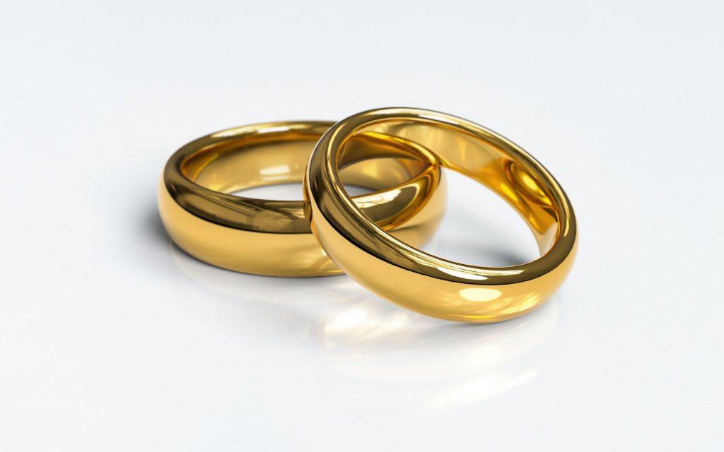 Aliança; casamento; união estável. Foto: Pixabay
