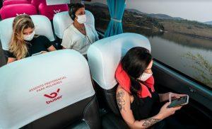 Buser inaugura assentos preferenciais para mulheres. Foto: Divulgação