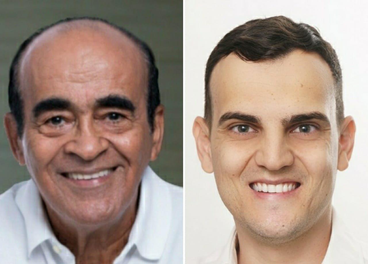 Dr. Coutinho (Cidadania) e Alcântaro Filho (PSD) concorrem à prefeitura de Aracruz. Foto: Reprodução/Facebook
