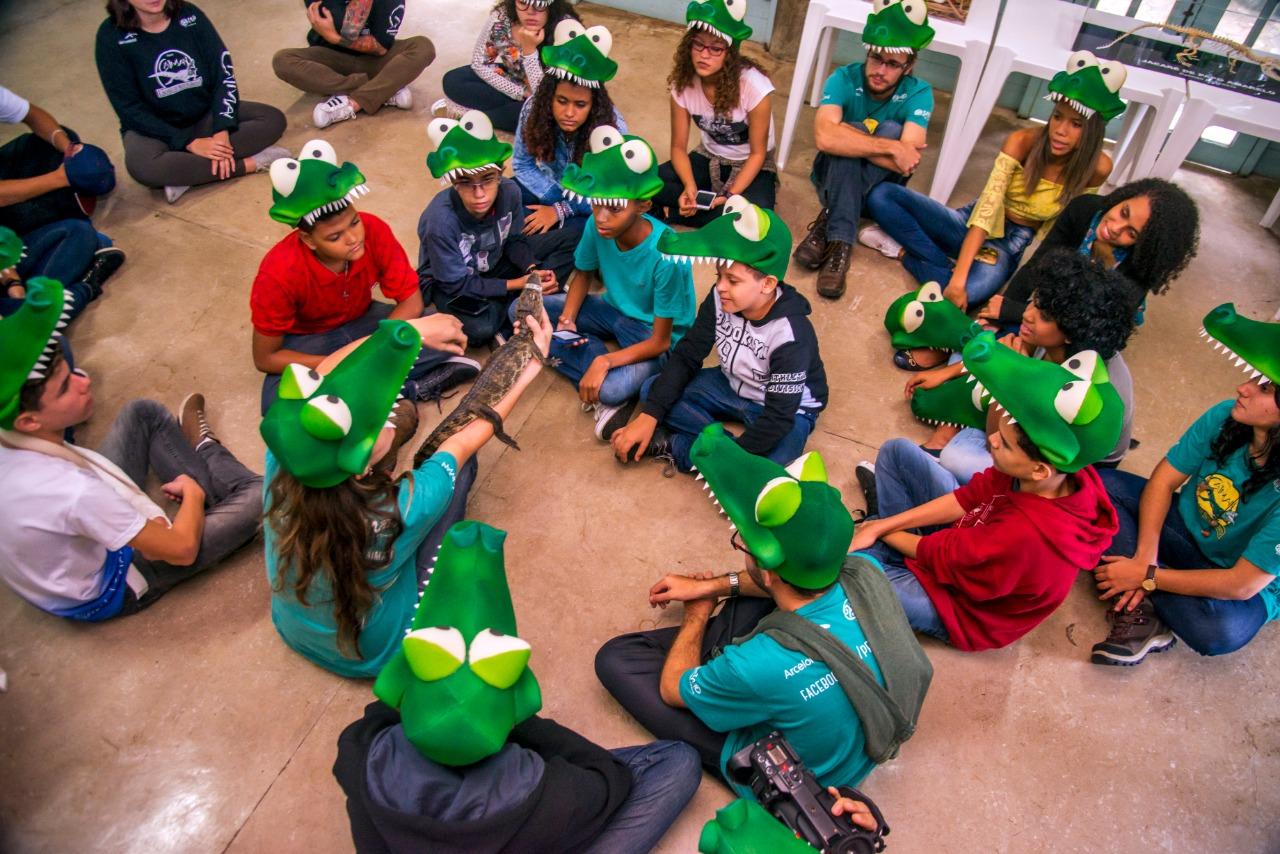 Educação Ambiental. Foto: Leonardo Merçon/Projeto Caiman