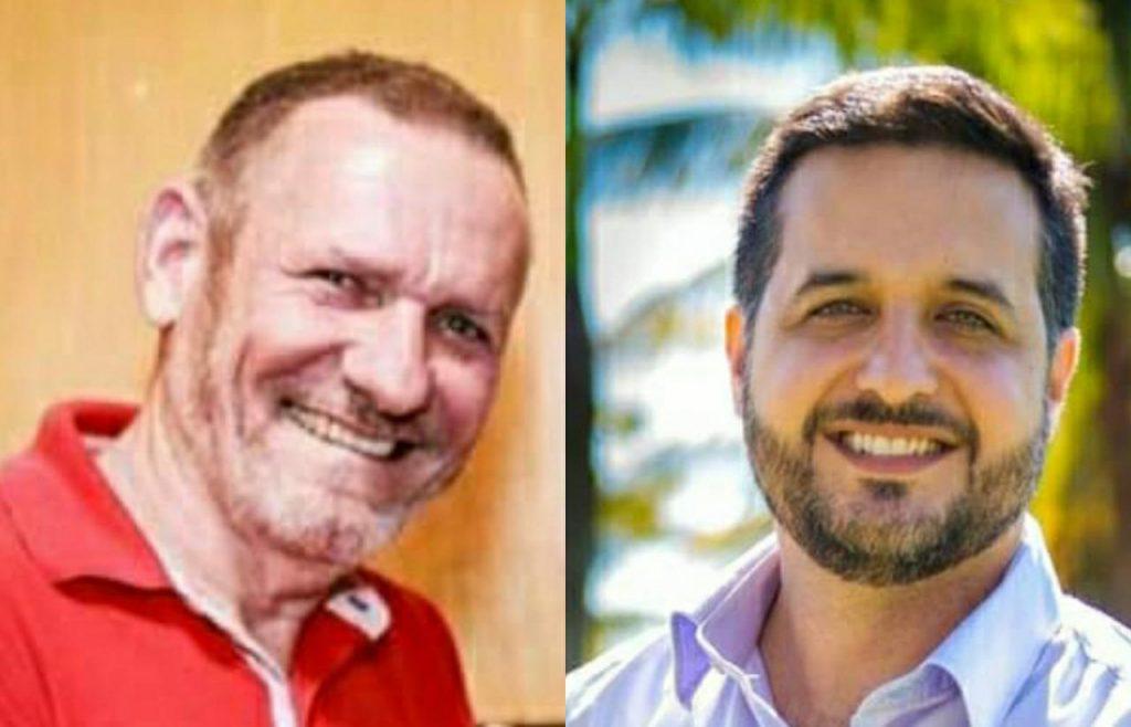 João Coser (PT) e Fabrício Gandini (Cidadania). Foto: Reprodução