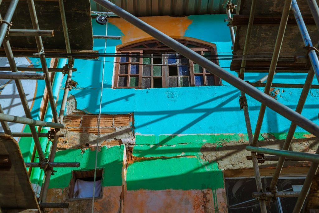 Muro pintado na Ilha do Príncipe, em Vitória. Foto: Francisco Xavier