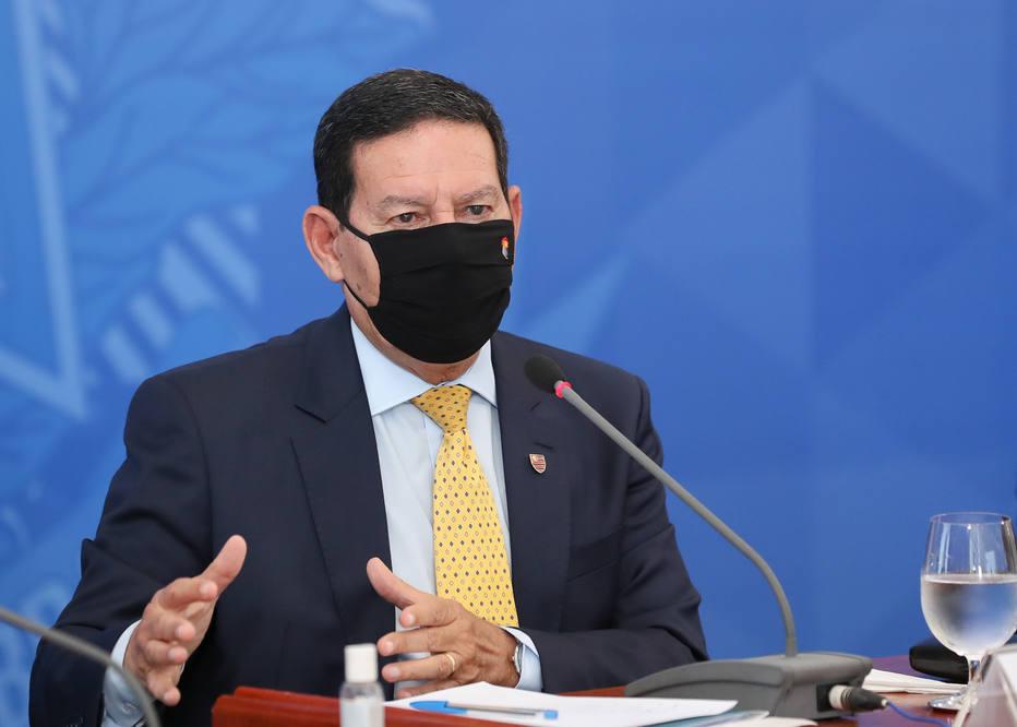 O vice-presidente Hamilton Mourão, que comanda o Conselho Nacional da Amazônia Legal, afirmou que ataques ao País e a Bolsonaro na área ambiental tem viés ideológico. Foto: Marcos Correa/PR