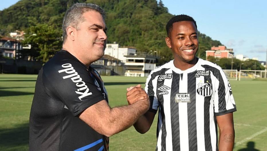 Santos desistiu da contratação de Robinho. Foto: Reprodução/Twitter Santos FC