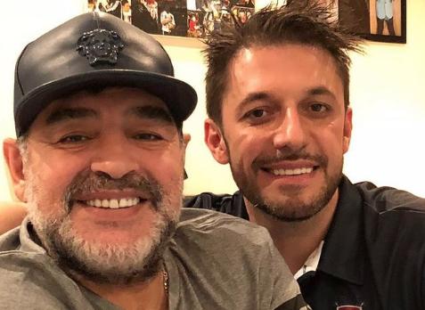 Maradona e seu advogado, Matias Morla. Foto: Reprodução/Instagram