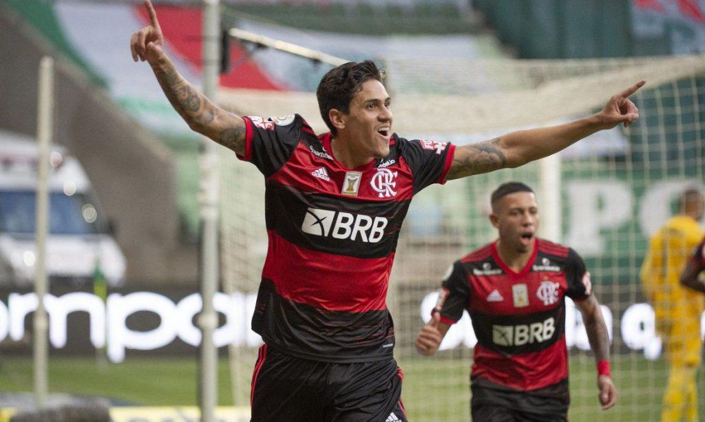 Atacante Pedro, do Flamengo. Foto: Alexandre Vidal/Flamengo