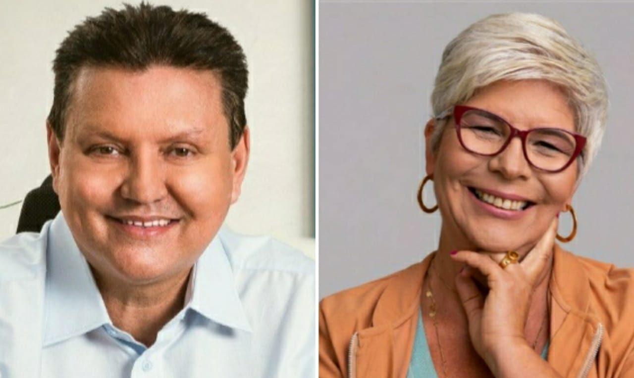 Euclério Sampaio (DEM) e Célia Tavares (PT) disputarão o segundo turno em Cariacica. Fotos: Reprodução/Redes Sociais
