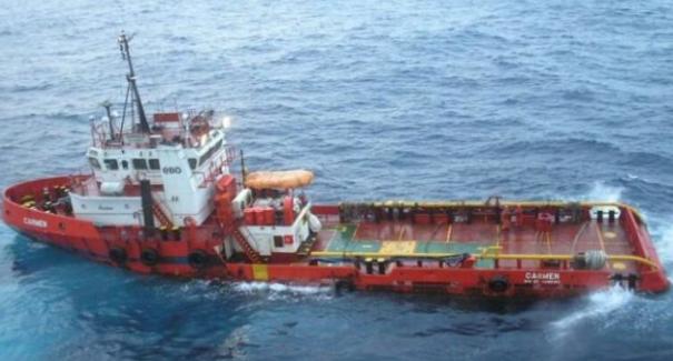 Petroleiros informam naufrágio na Bacia de Campos. Foto: Site Campos24Horas