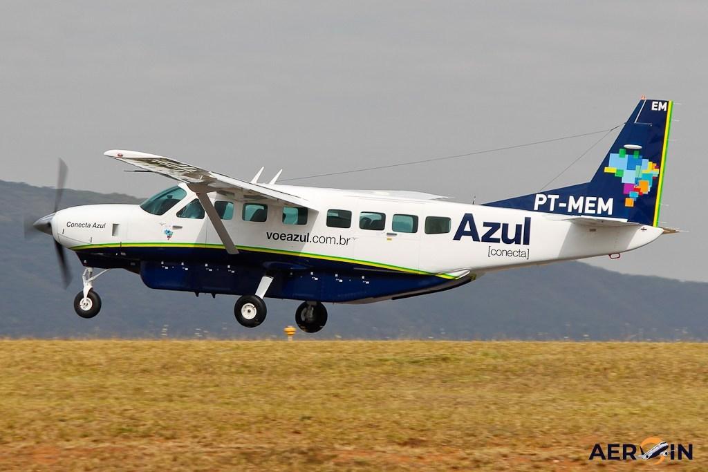 Aeronave modelo Cessna Gran Caravan da Azul Linhas Aéreas. Foto: Divulgação