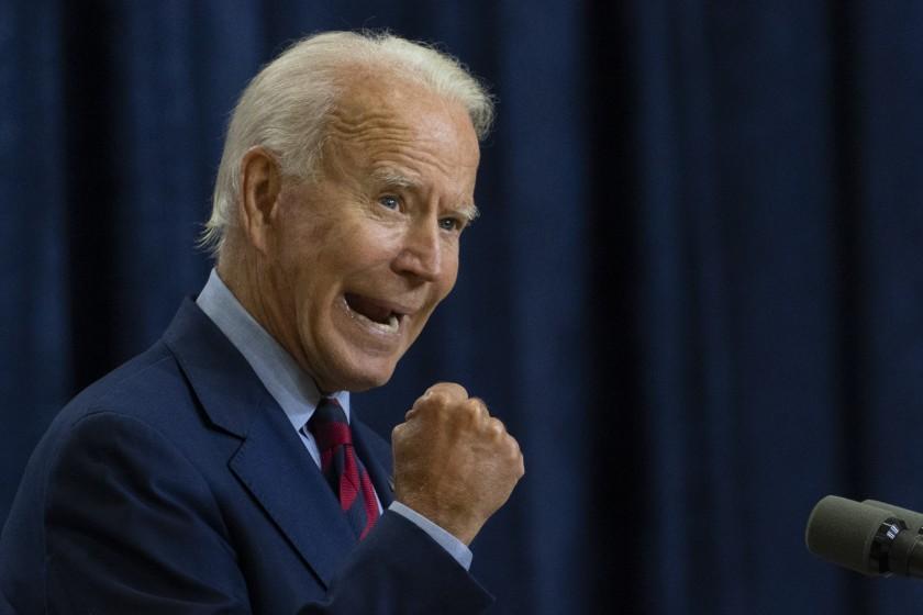 Candidato democrata Joe Biden (Reprodução: Los Angeles Times)