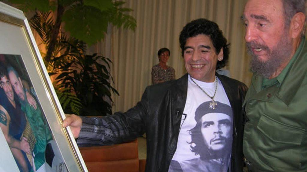 Diego Maradona e Fidel Castro (Crédito: Divulgação)