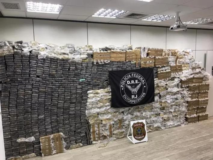 Apreensão de 2,5 toneladas de cocaína em Duque de Caxias. Foto: Polícia Federal