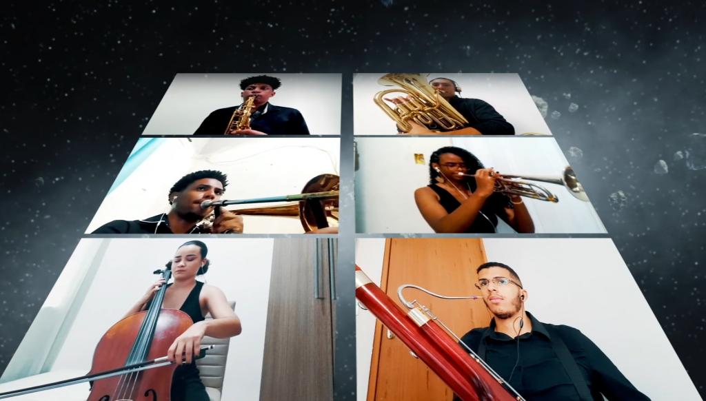Concertos Virtuais Banda Sinfônica Vale Música - Cosmos. Foto: Reprodução