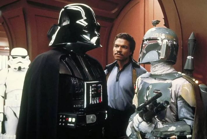 David Prowse, Billy Dee Williams, Jeremy Bulloch e John Morton em Star Wars Episódio V: O Império Contra-Ataca (1980). Foto: Lucasfilm