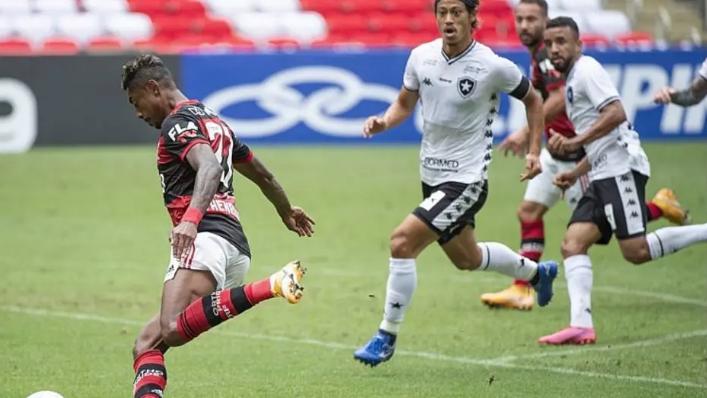 Flamengo e Botafogo ficaram no empate, 1 a 1, no primeiro turno do Brasileirão 2020. Foto: Alexandre Vidal/ CR Flamengo